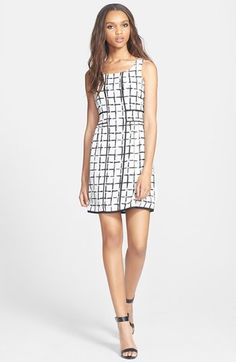 Collective Concepts Print A-Line Dress available at #Nordstrom