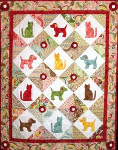 Cats & Dogs Posh Pets Wall Hanging Pattern