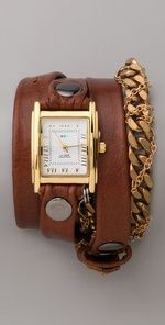 La Mer Collections Moscow Braided Chain Watch