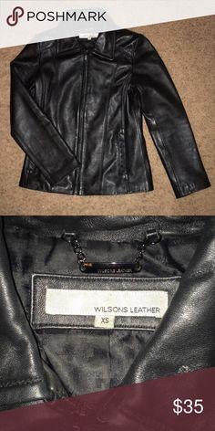 Wilsons leather blazer jacket black coat XS Wilsons leather blazer jacket black coat XS Wilsons Leather Jackets & Coats Blazers