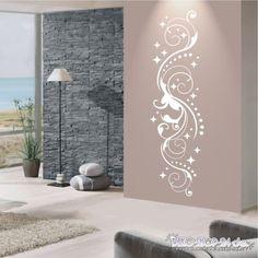 WANDTATTOO-Ornament-Sternenranke-Ranke-Sterne-Style-Flur-Wandaufkleber-721-XL