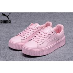 eb1d37ac9f8 Women s Fenty Puma by Rihanna Leather Creepers Shoes Pink