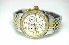Michele MW23A01C5025 0.40ctw Diamond Bezel MOP Swiss Ladies Two Tone Watch (D10) #Michele #LuxuryDressStyles