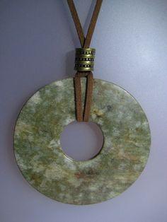 Collar - Colgante de jade verde - Àngels Canut - Barcelona