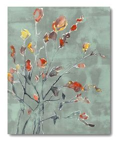 Look what I found on #zulily! Wildflower Watercolor Wrapped Canvas #zulilyfinds