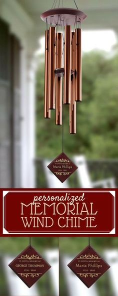 4bc4205db80ae This personalized Memorial Wind Chime is such a beautiful way to remember a  loved one who