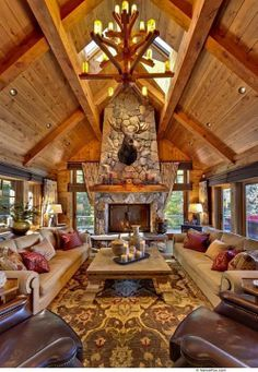 This is exactly what I envision for my mountain home.  Lots of windows with a long range view.