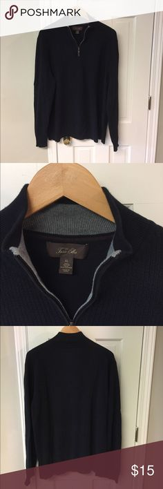XL Tasso Elba Sweater XL, COTTON, Black, Tasso Elba Sweater, No flaws.  I'm not a clothing seller.  Obvious??  This is not a business for me.  I've lost a bunch of weight for health reasons and need to replace clothing.  Today is November 8. I'm gonna try Poshmark for a week and see if I can get a better price than a consignment shop.   If my things don't sell I will take them to Avalon Exchange or Plato's Closet and see what I can get for them.  I am open to offers or trades for clothing of…