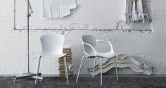 #FritzHansen #RIN #Chair #kunststof #stoel #eetkamerstoel #kantinestoel #vergaderstoel #design #kleuren #armleuningen