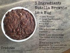 Nutella Brownie in a Mug