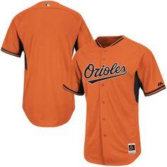 Baltimore Orioles Majestic Youth Batting Practice Cool Base Batting Practice Jersey - Orange
