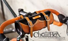 Leather Bicycle Handlebar or Saddle Bag. $180.00, via Etsy.