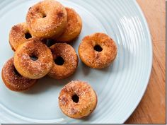 Baked Mini Vanilla Cinnamon and Sugar Donuts by keepitsimplefoods: Made in a mini donut pan (<a href=