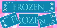 Frozen Display Banner - banners, displays, posters, visuals - twinkl