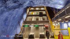 Expo at Stockholm metro.