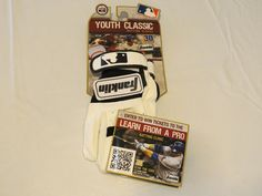 Franklin Youth Classic Batting Gloves Youth XS 10634fop4 white black 1121114101 #Franklin