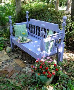 Garden Bench - eclectic - landscape - raleigh - Brittany (aka Pretty Handy Girl)