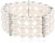 Cream Simulated Pearl and Clear Crystal Triple Row Stretch Bracelet Amazon Curated Collection,http://www.amazon.com/dp/B004ARS1V4/ref=cm_sw_r_pi_dp_N2Imtb0QY0H5473N