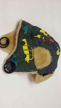 Boys trapper hat / boys aviator hat / Handmade hat by MadeByAdam