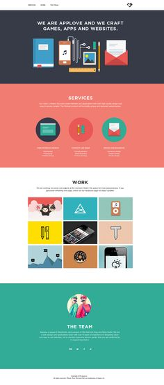 Clean responsive flat design in this one pager for App Love - the portfolio of designers Mia Natt och Dag and Biola Kadiri. Love the logo too:)