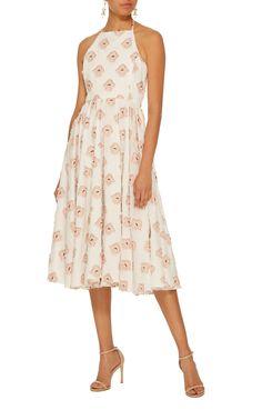 299d328ed4 Gretta Halter Flower Dress by CAROLINE CONSTAS Now Available on Moda  Operandi Bvlgari