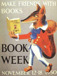 Official Children's Book Week poster, 1950, William Pene DuBois (1916-1993)