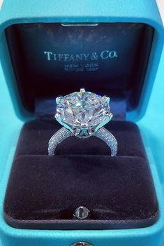 tiffany engagement rings white gold engagement rings round d Engagement Ring Tiffany, Tiffany Wedding Rings, Tiffany Rings, Dream Engagement Rings, Round Diamond Engagement Rings, Antique Engagement Rings, Solitaire Engagement, Tiffany And Co, Cartier Engagement Rings