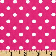 Stretch ITY Jersey Knit Polka Dots Pink/White