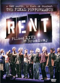 """Rent: Filmed Live on Broadway This program captures the final Broadway stage performance of Jonathan Larson's Pulitzer and Tony Award-winning musical """"Rent,"""" filmed live in Manhattan's Nederlander Theatre. Broadway Plays, Broadway Theatre, Musical Theatre, Broadway Shows, Broadway Quotes, Theatre Geek, Movie Theater, Rent Film, Rent Musical"""