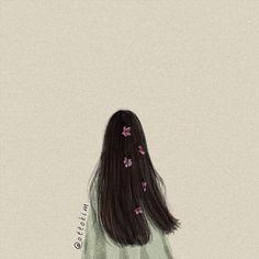 Art Anime, Anime Art Girl, Girl Wallpaper, Cartoon Wallpaper, Aesthetic Art, Aesthetic Pictures, Cover Wattpad, Tmblr Girl, Flower Sketches