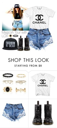 """Magcon Tour with LOX"" by cherlloyd1d13 ❤ liked on Polyvore featuring River Island, Dr. Martens, queen, magcon and mahoganylox"