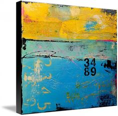 JUST REDUCED!Made on 24x24x1.5 canvas- great color! Tons of texture with urban contemporary design. Will be signed on front.    100% ORIGINAL – ONE-OF-A-KIND PAINTING BY ERIN ASHLEY ©    HIGH QUALITY GALLERY WRAPPED CANVAS WITH SIDES 1-1/2INCH DEEP PAINTED IN BLACK    SIGNED BY ARTIST EITHER ON FRONT OR SIDE OF CANVAS AND BACK OF CANVAS    CANVAS WILL ARRIVE WIRED READY TO HANG    ART WORK IS SEALED/PROTECTED WITH A HIGH GLOSS VARNISH MEDIUM – MIXED MEDIA ACRYLIC    WWW.ERINASHLEYART.COM…
