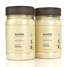 AHAVA Deadsea Mineral Bath Salt Duo - Calming Lavender at HSN.com.