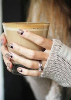 Coffee & coffee nails, love it!