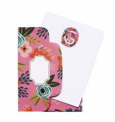 Monogram  Box of 8 Flat Notes & Matching Envelopes