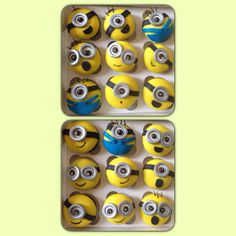 Cupcakes de Minion! Como no amarlos, son tan tiernos!!