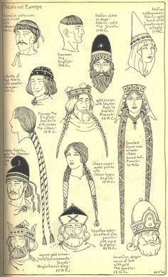 Village Hat Shop Gallery :: Chapter 7 - Medieval or Gothic Europe Mais Medieval Hats, Medieval Costume, Medieval Dress, Medieval Fashion, Medieval Clothing, Medieval Fantasy, History Medieval, Renaissance Hat, Medieval Times