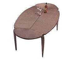 Tavolo ovale in tecnorattan Symi - 110x74x200 cm