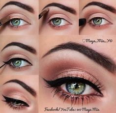 Fresh, smokey eye makeup look