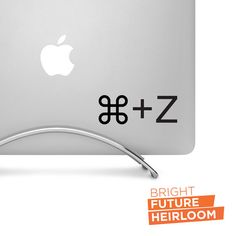 Command Z - Undo - Cut Vinyl Decal - Perfect for laptops tablets cars trucks and more! by BrightFutureHeirloom