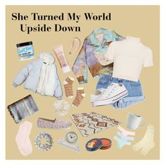 """She Turned My World Upside Down"" by letssavetheworld2076 ❤ liked on Polyvore featuring Levi's, Staud, Converse, Madewell, Gucci, TOMS, Laura Ashley, Ballard Designs, UGG and Puffa"