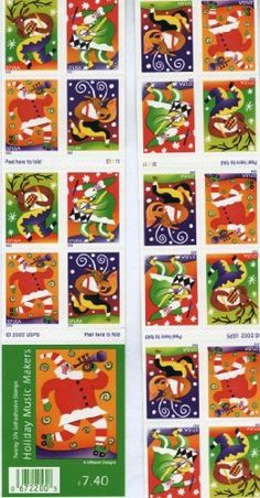 Holiday Music Makers 20 x 37 cent US Stamps 3821-24 . $12.00. One (1) full sheet of the Holiday Music Maker 20 x 37 cent  United States U.S. Postage stamps  In mint condition.