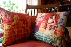 Decorative cushions on www.indiacircus.com . Grab a few today