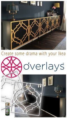 Create some drama with your Ikea. Transform your furniture into something that . - Home Decor -DIY - IKEA- Before After Ikea Furniture, White Furniture, Upcycled Furniture, Furniture Projects, Furniture Makeover, Painted Furniture, Furniture Stores, Furniture Outlet, Furniture Removal