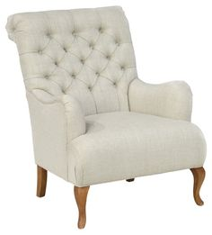 Debby Tufted Club Chair, Beige
