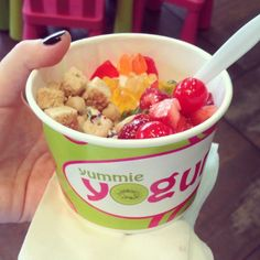 I've wanted one of these for sooo long and it's taste100x better while being pregnant 😁 #yummieyogurt #frozenyogurt #candy #fruit #foodporn #yummy