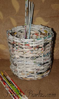 Paper Weaving - Basket and tutorial