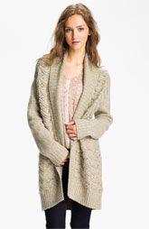 LOVE my new sweater!  $98  Hinge® Scallop Knit Oversized Cardigan