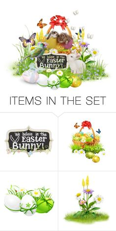 """""""Easter Bunny"""" by milenasas ❤ liked on Polyvore featuring art"""