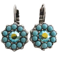 Mariana Silver Plated Daisy Swarovski Crystal Earrings, Summer Fun. Available at www.regencies.com